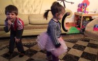 Funny Babies Dancing 2 Wide Wallpaper