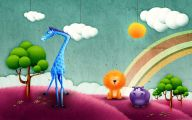 Funny Children's Artwork 6 Background Wallpaper