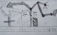 Funny Children's Drawings 10 High Resolution Wallpaper