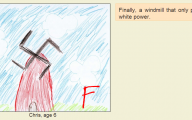 Funny Children's Drawings 13 Widescreen Wallpaper