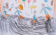 Funny Children's Drawings 16 Background Wallpaper