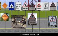 Funny Road Signs 36 Background Wallpaper