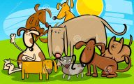 Funny Cartoon Dog 6 Widescreen Wallpaper