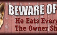 Funny Beware Of Dog Signs 3 Wide Wallpaper