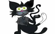 Funny Cartoon Cat 31 Widescreen Wallpaper