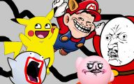 Funny Cartoon Faces 5 Background Wallpaper