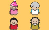 Funny Cartoon People 16 Background Wallpaper