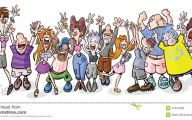 Funny Cartoon People 23 Background Wallpaper