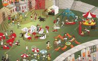 Funny Cartoon People 27 Desktop Background
