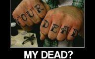 Funny Cartoon Tattoos 1 Wide Wallpaper