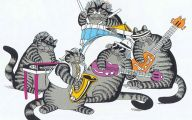 Funny Cat Cartoons 4 Desktop Wallpaper