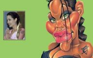 Funny Celebrity Drawings 3 Widescreen Wallpaper
