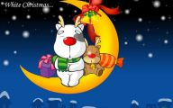 Funny Christmas Cartoon 13 Background Wallpaper