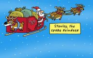 Funny Christmas Cartoon 23 Desktop Wallpaper