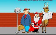 Funny Christmas Cartoon 31 Free Wallpaper