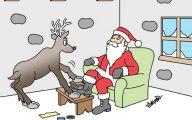 Funny Christmas Cartoon 38 Desktop Background