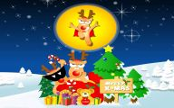 Funny Christmas Cartoon 39 Widescreen Wallpaper