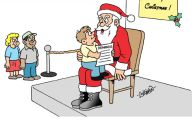 Funny Christmas Cartoon 7 Wide Wallpaper