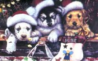 Funny Christmas Dogs 4 Desktop Background