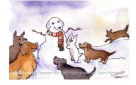 Funny Dog Art 15 Widescreen Wallpaper