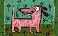 Funny Dog Art 25 Widescreen Wallpaper