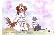 Funny Dog Art 31 Background Wallpaper