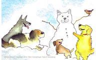 Funny Dog Art 4 Widescreen Wallpaper