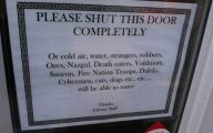 Funny Door Signs 11 Cool Hd Wallpaper