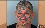 Funny Face Tattoos 6 Desktop Background
