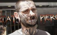 Funny Face Tattoos 8 Widescreen Wallpaper