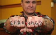 Funny Knuckle Tattoo Phrases 14 Background