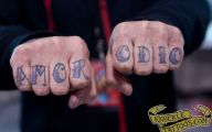 Funny Knuckle Tattoo Phrases 24 Widescreen Wallpaper
