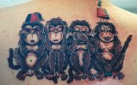 Funny Monkey Tattoo 28 Desktop Wallpaper