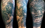 Funny Monkey Tattoo 4 Desktop Background