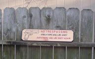 Funny No Trespassing Signs 13 Hd Wallpaper