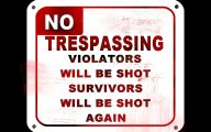 Funny No Trespassing Signs 14 Desktop Background