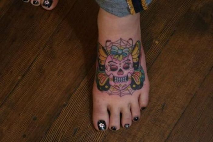 Funny Ankle Tattoos 40 Background
