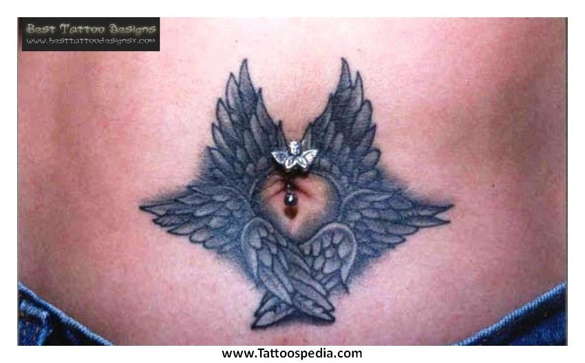 Funny Belly Button Tattoos 26 Background Wallpaper