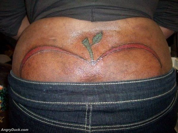 Funny Bum Tattoos 1 Widescreen Wallpaper
