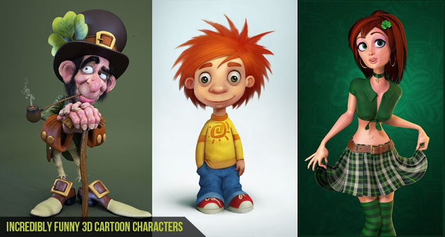 Funny Cartoon Characters 7 Background Wallpaper