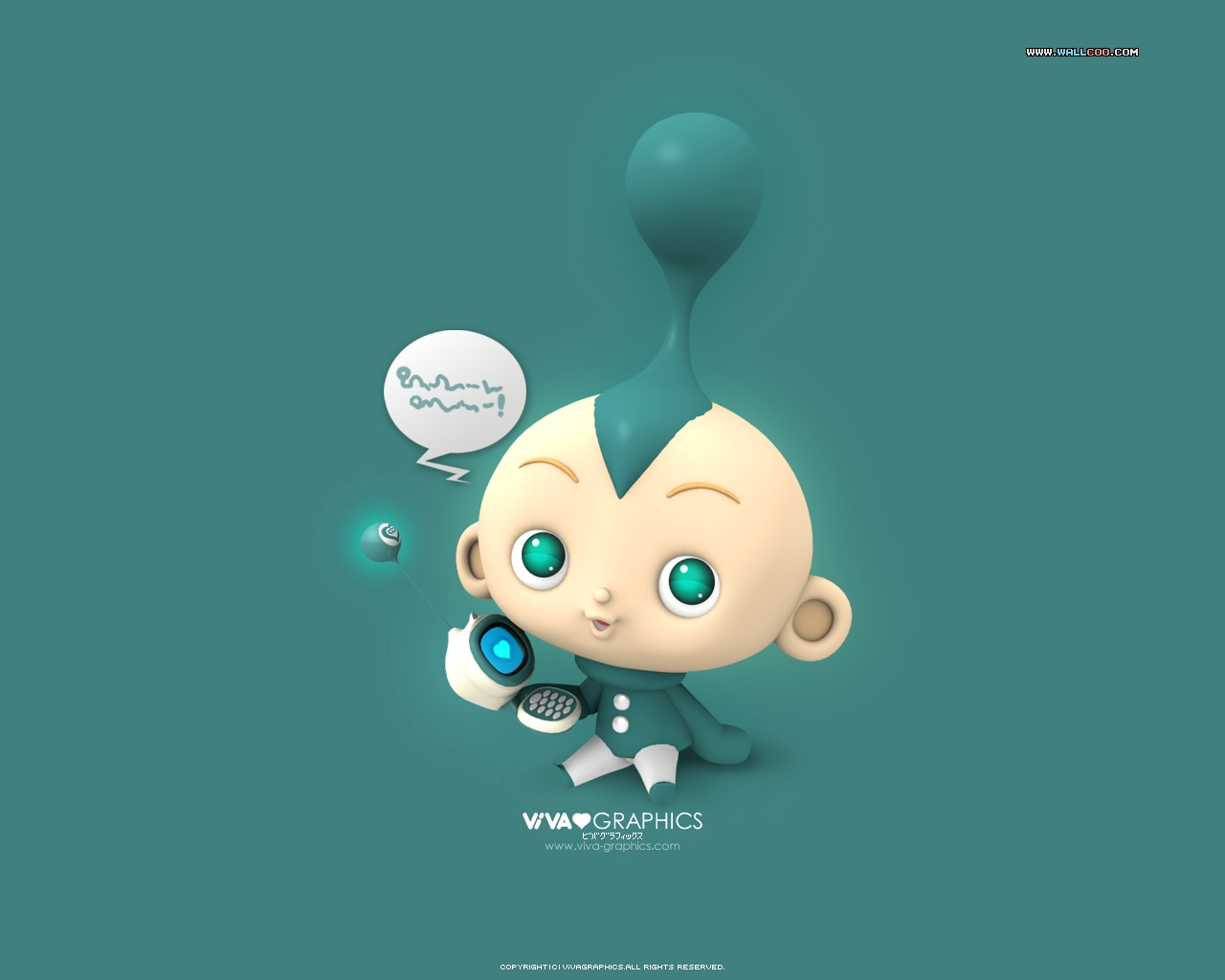 Funny Cartoons Baby 12 Widescreen Wallpaper