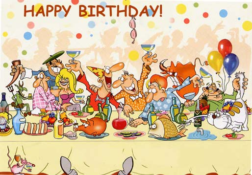 Funny Cartoons Birthday 4 Free Hd Wallpaper - Funnypicture.org