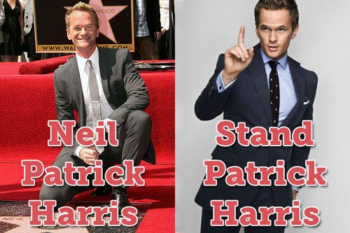 Funny Celebrities Names 6 Background Wallpaper