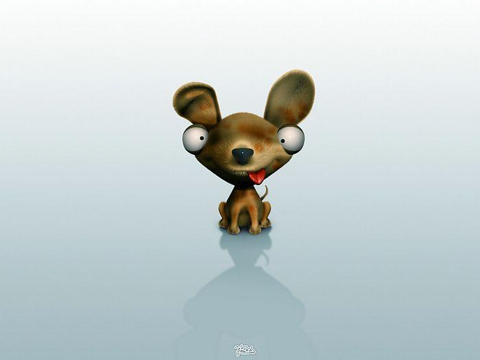 Funny Animals Cartoon 6 Widescreen Wallpaper