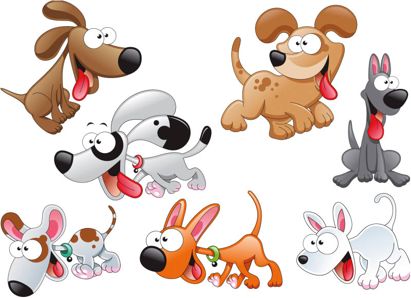 Funny Cartoon Dog Pictures 3 Background Wallpaper