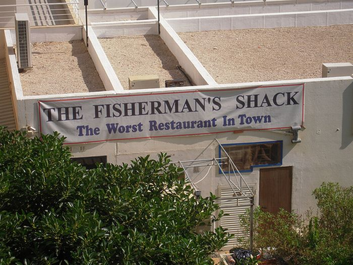Funny Restaurant Signs 4 Desktop Background