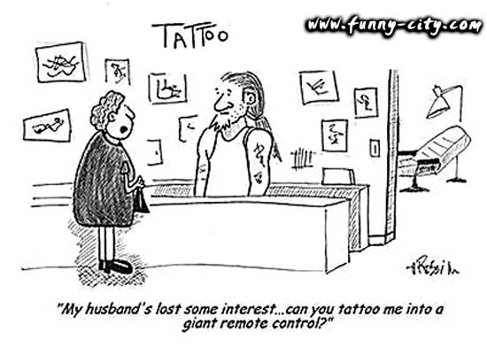 Funny Tattoo Cartoons 10 Wide Wallpaper