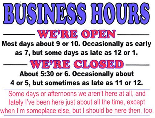 office hours sign template free