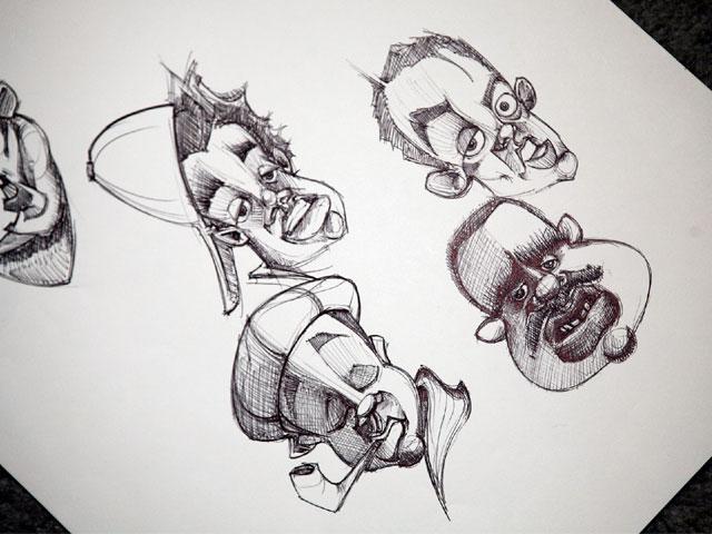 Funny Cartoon Faces 33 Hd Wallpaper