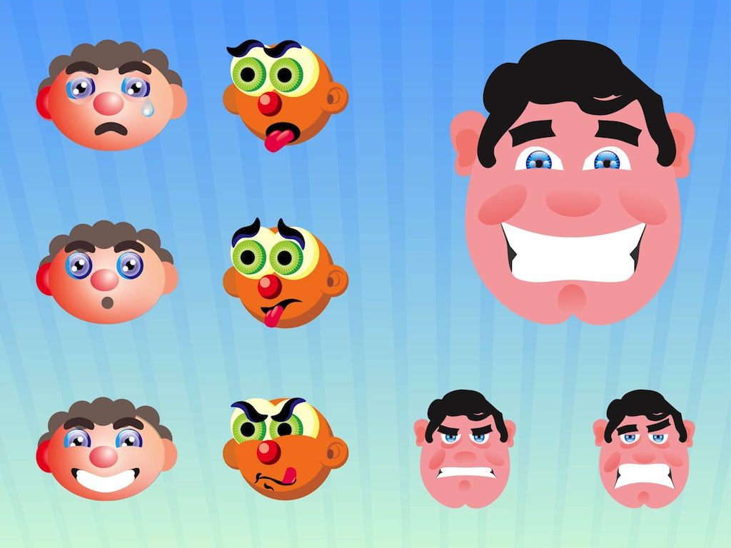 Cartoon Characters Faces : Funny cartoon faces background wallpaper funnypicture